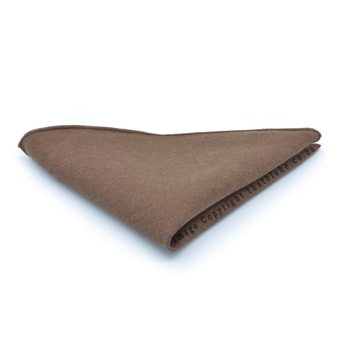 Walnut Brown Pocket Square Matt Material Suit Accessory