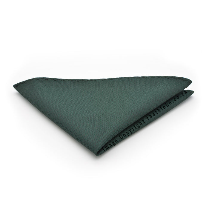 Patterned Dark Green Pocket Square