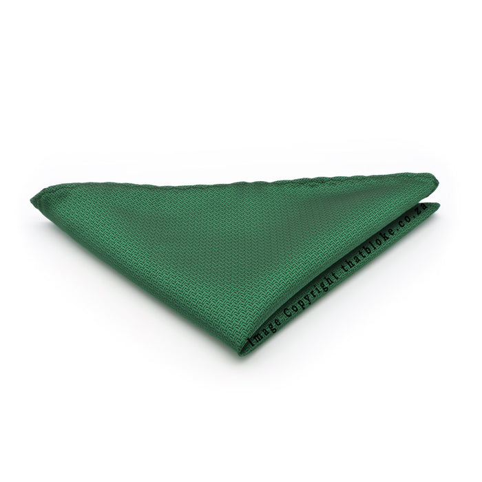 Patterned Emerald Green Pocket Square