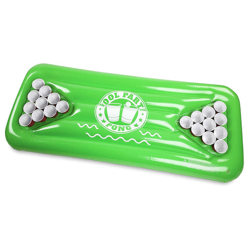 Beer Pong Table Inflatable Pool Float Drinking Game Green Display