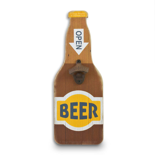 Retro Wall Hanging Beer Bottle Opener - Open Beer | That Bloke