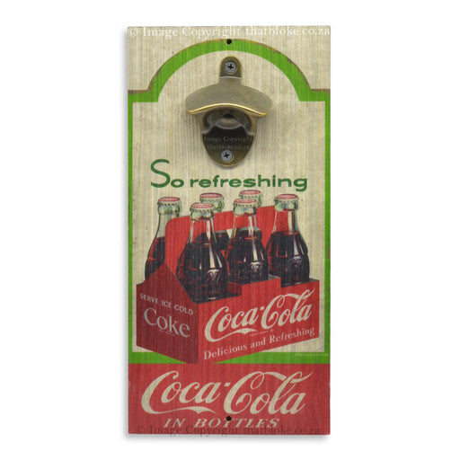 Coca-Cola Bottle Opener Carry Case Wall Mounted Retro Wood