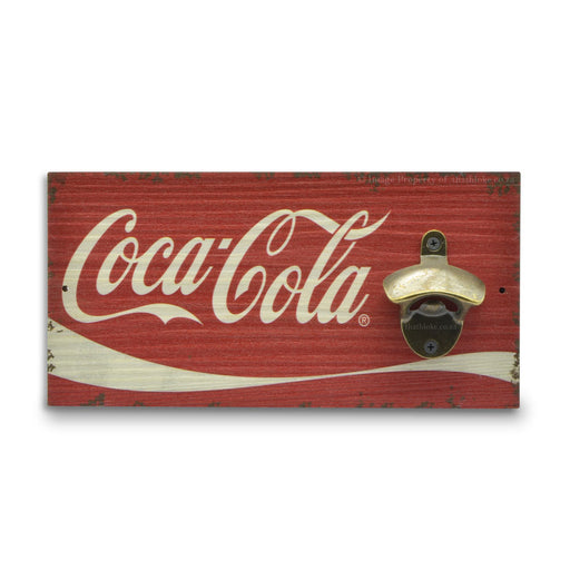 Coca-Cola Bottle Opener Beer Logo Image Front Red White