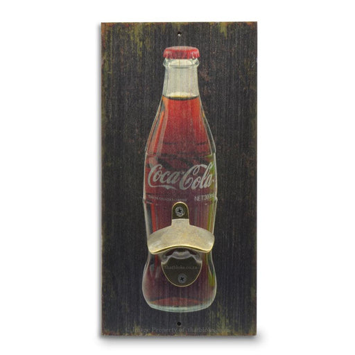 Coca-Cola Bottle Opener Wall Mounted Original Image Front