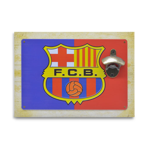 Wall Mounted Beer Bottle Opener - FCB Barcelona Logo