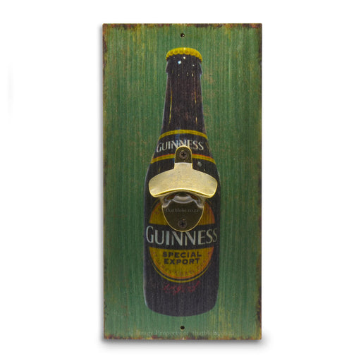 Guinness Beer Bottle Opener Wall Hanging Wood Image Front