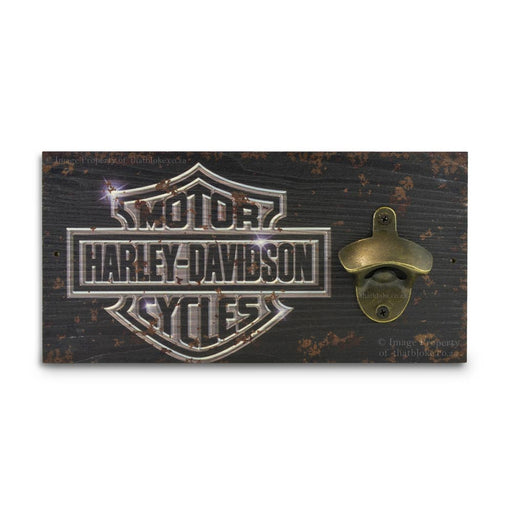 Retro Wall Mounted Beer Bottle Opener - Harley Davidson Black | That Bloke