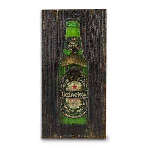 Retro Wall Mounted Beer Bottle Opener - Heineken Bottle | That Bloke