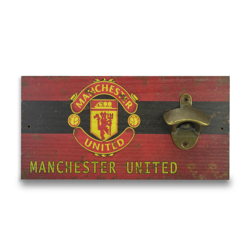 Wall Mounted Beer Bottle Opener - Manchester United Logo | That Bloke