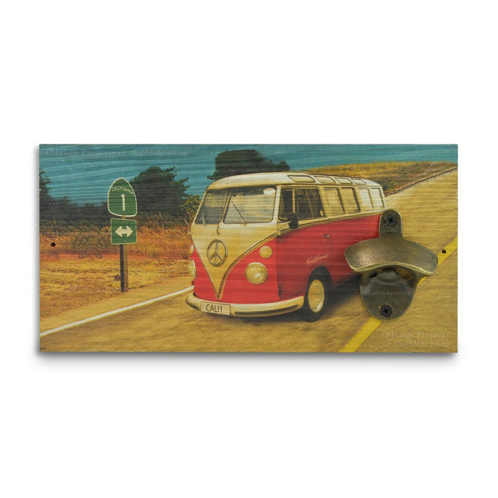 Retro Wall Mounted Beer Bottle Opener - VW Kombi Bus | That Bloke