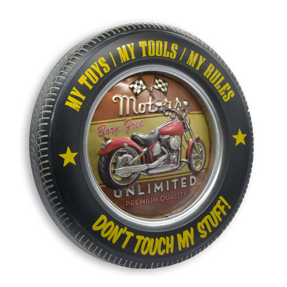 Retro Wheel Decor - Motorcycle | That Bloke