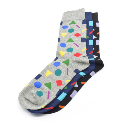 Sassy Socks - Party Pattern (Grey, Navy Blue, Black)