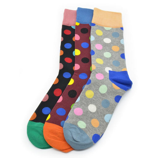 Sassy Socks - Clown Dots (Grey, Maroon, Black)