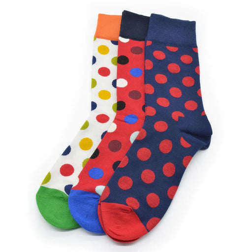 Sassy Socks - Clown Dots (Navy Blue, Red, White)