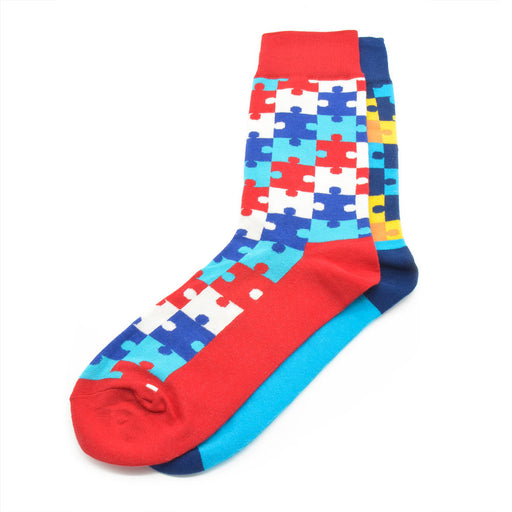Sassy Socks - Puzzle Pattern (Set of 2)