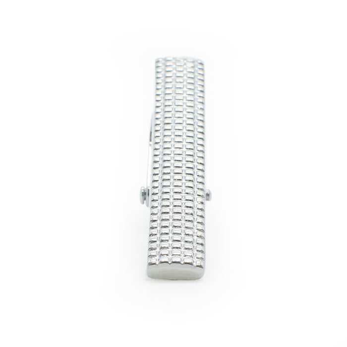 Tie Clip - Engraved Square Pattern (Short)