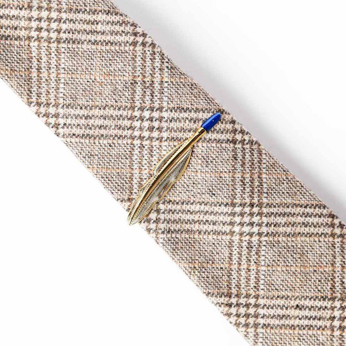 Tie Clip - Gold Feather | That Bloke