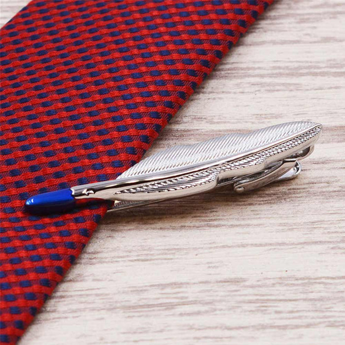 Tie Clip - Silver Feather | That Bloke