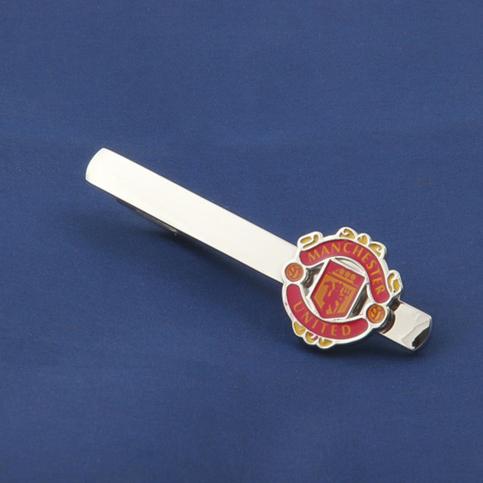 Manchester United Football Club Tie Clip Silver Image Display