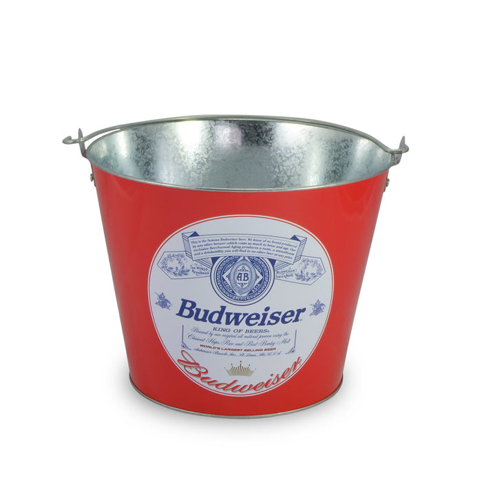 Tin Ice Bucket - Budweiser Beer