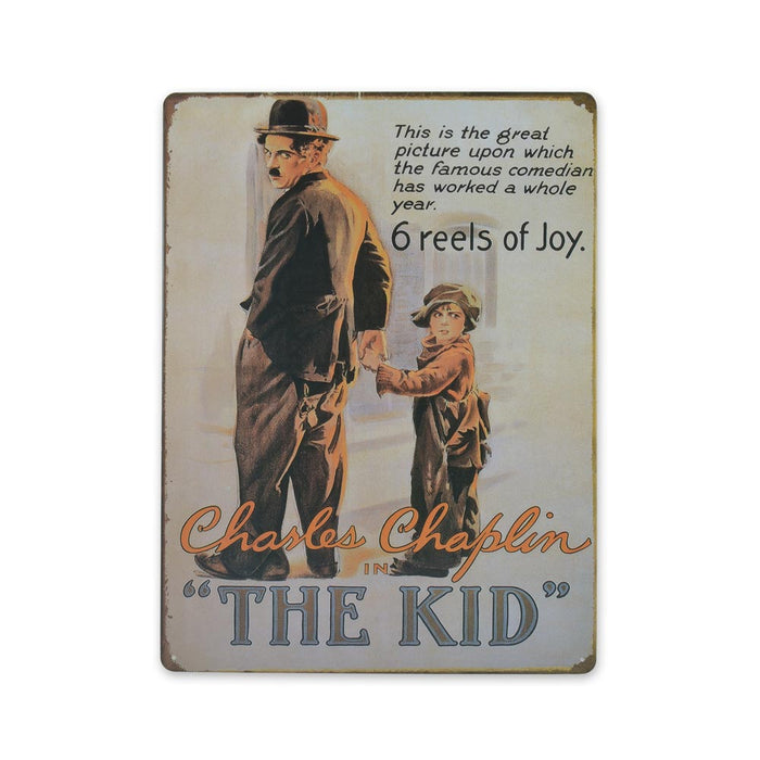 Charlie Charles Chaplin The Kid Metal Sign Large