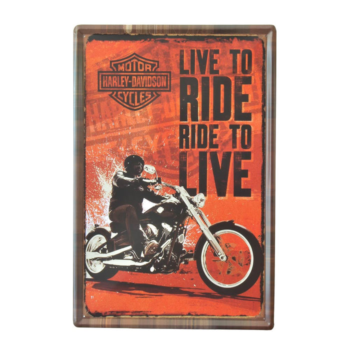 X-Large Tin Sheet Graphic Print - Harley Davidson Motorcycles | That Bloke