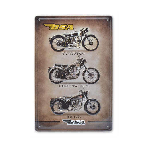 Medium Tin Sheet Graphic Print - BSA Motorcycles | That Bloke