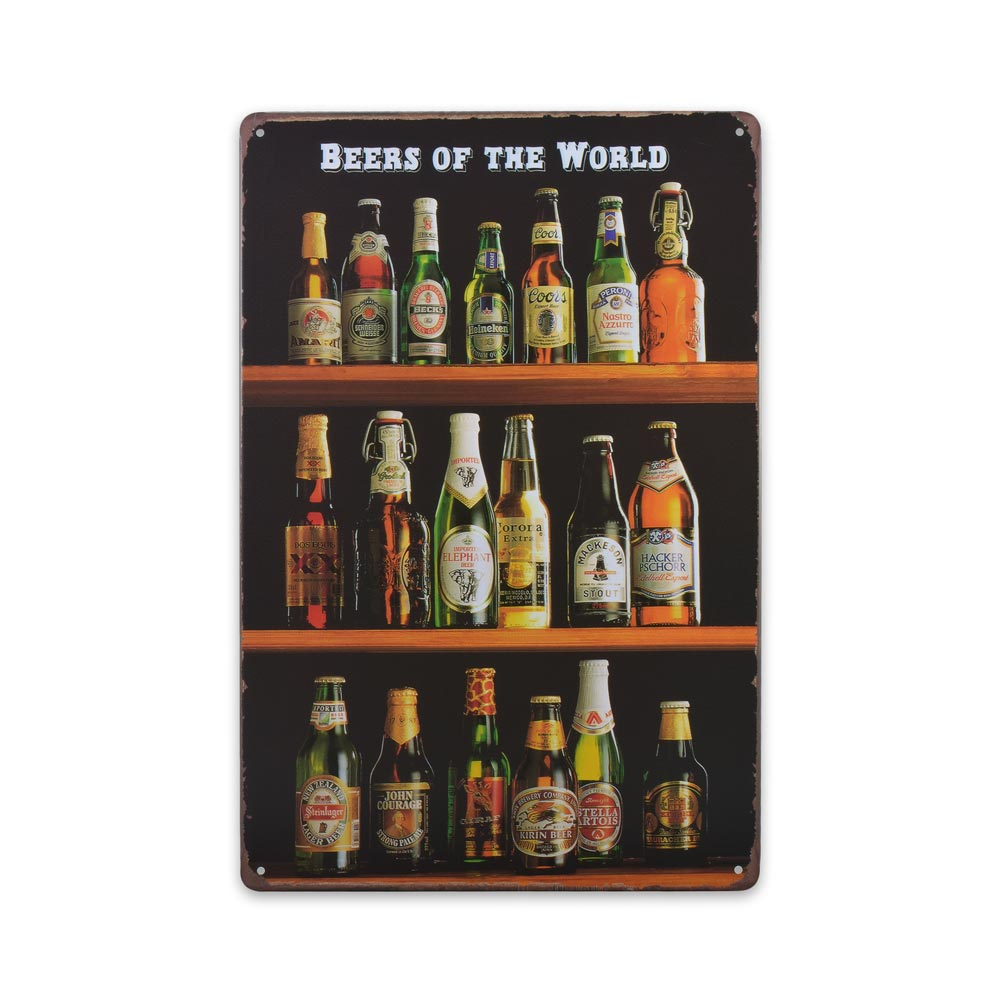Medium Tin Sheet Graphic Print - Beers of the World | That Bloke