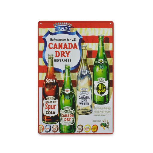 Canada Dry Metal Sign Beverages Tin Print Medium