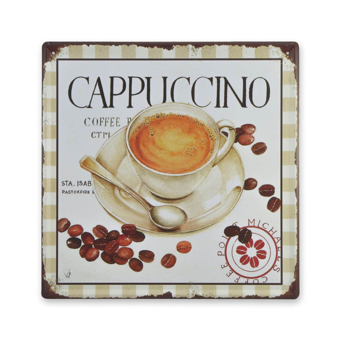 Medium Tin Sheet Graphic Print - Cappuccino Coffee | That Bloke