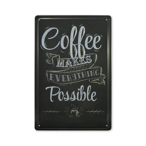 Medium Tin Sheet Graphic Print - Coffee Makes Everything Possible | That Bloke