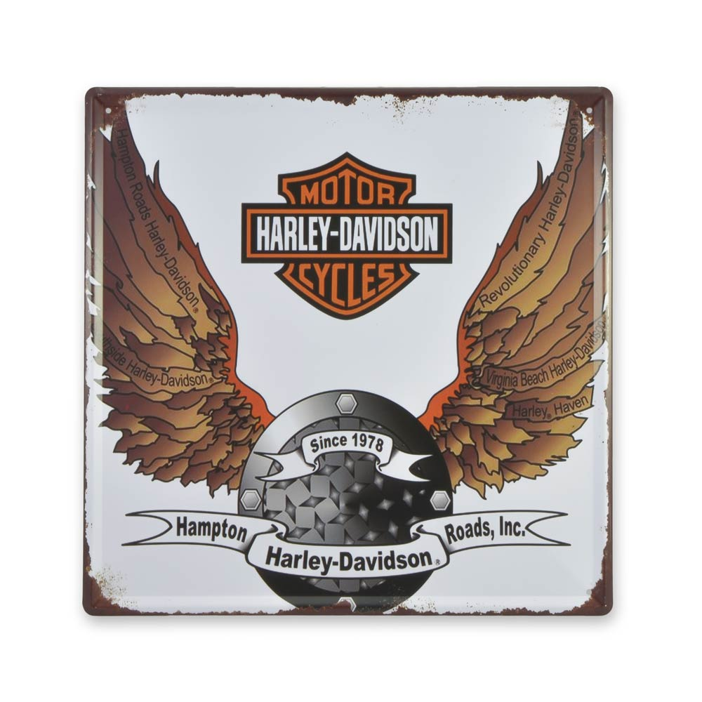 Medium Tin Sheet Graphic Print - Harley Davidson Motorcycles Since 1978 | That Bloke