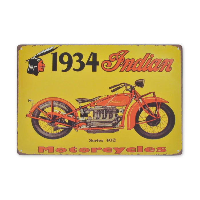 Medium Tin Sheet Graphic Print - Indian Motorcycles Series 402 | That Bloke