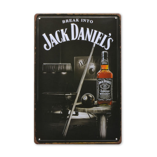 Number 8 Ball Jack Daniels Whiskey Metal Sign Tin Medium