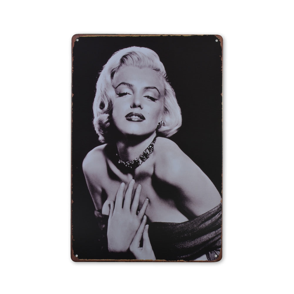 Medium Tin Sheet Graphic Print - Marilyn Monroe Head Portrait | That Bloke