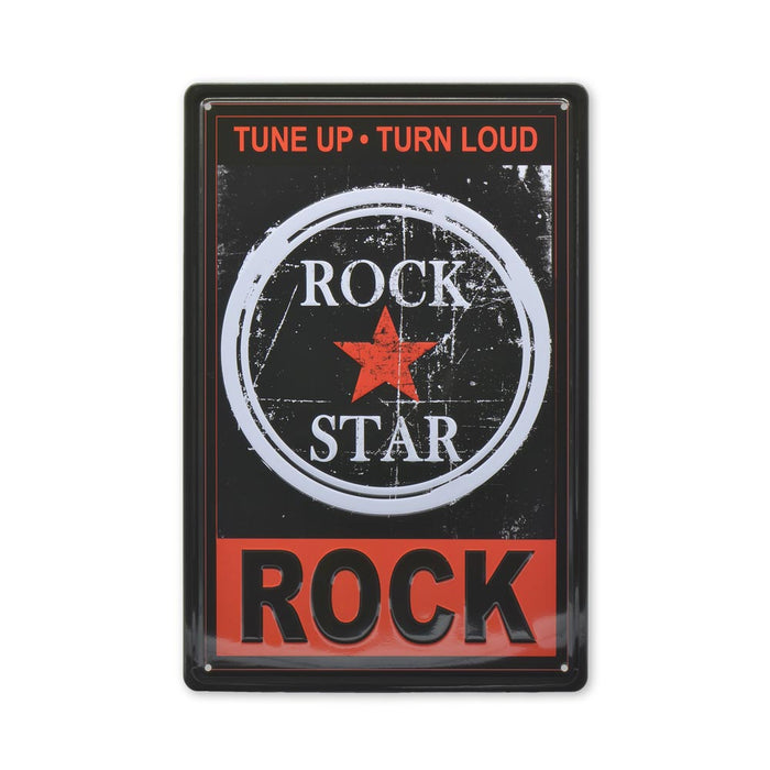 Rock Star Metal Sign Music Medium