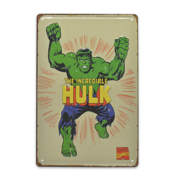 The Hulk Metal Sign For Man Cave Medium