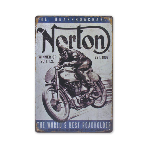 Norton Motorcycle Metal Sign World's Best Roadholder