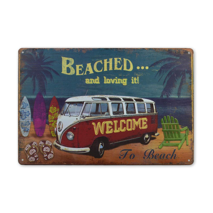 Medium Tin Sheet Graphic Print - VW Kombi Beach Scene | That Bloke