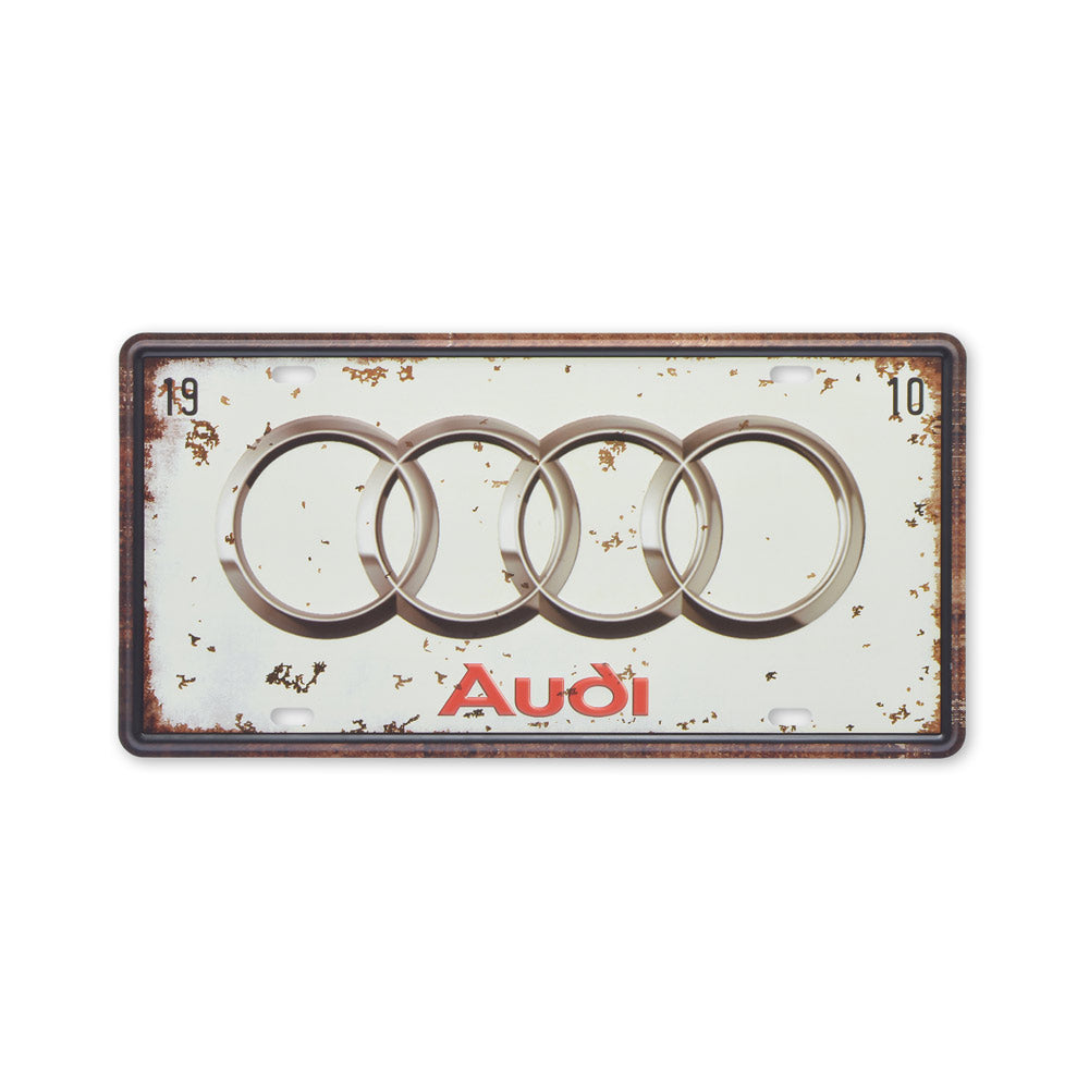 Small Tin Sheet Graphic Print - Audi Car Logo