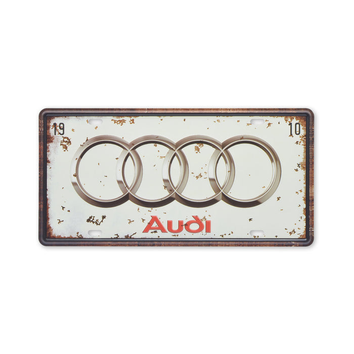 Audi Metal Sign Car Logo Small Tin Print