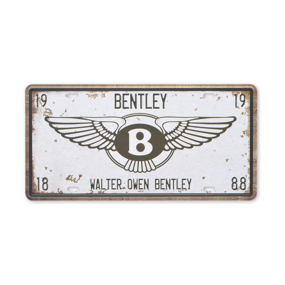 Small Tin Sheet Graphic Print - Bentley Car Logo