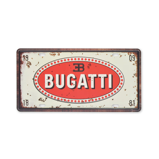 Bugatti Metal Sign Car Logo Tin Print Small