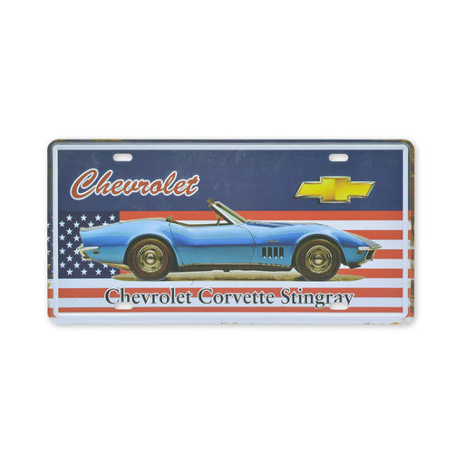 Chevrolet Corvette Stingray Metal Sign Tin Print Small