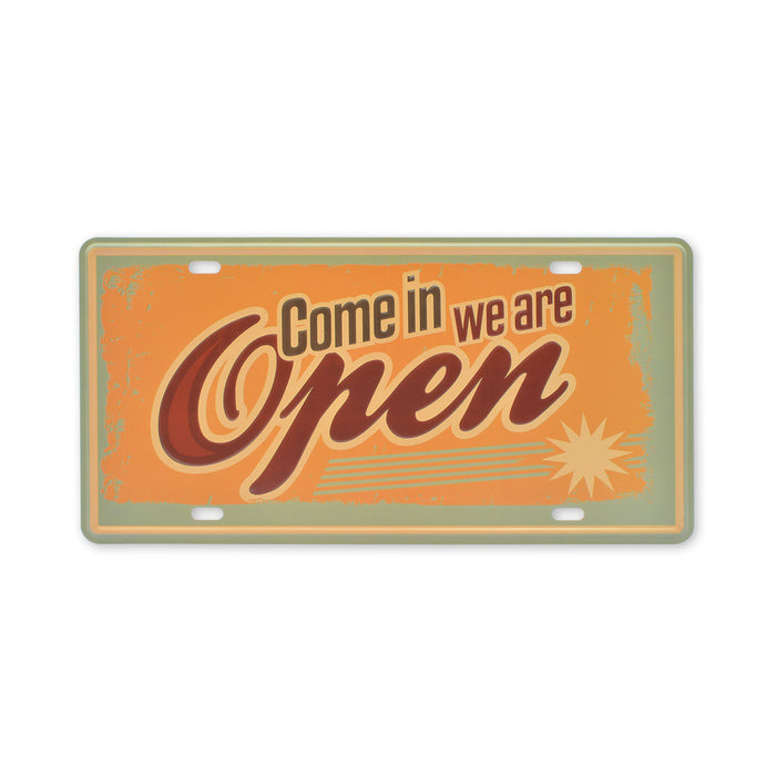 Small Tin Sheet Graphic Print - Come In We Are Open