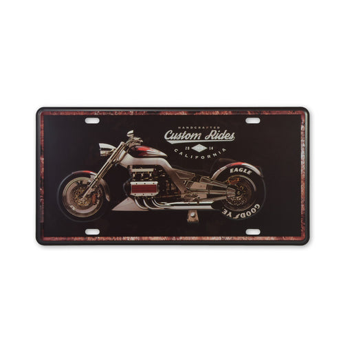 Custom Ride Motorcycle Metal Sign Tin Print Small