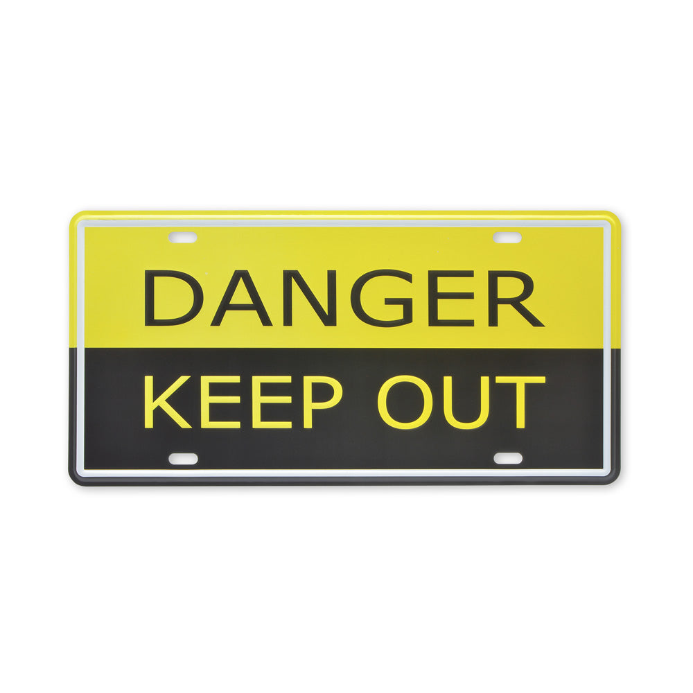 Small Tin Sheet Graphic Print - Danger Keep Out