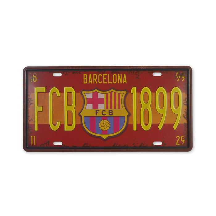 FCB Barcelona Metal Sign Soccer Football Club Small