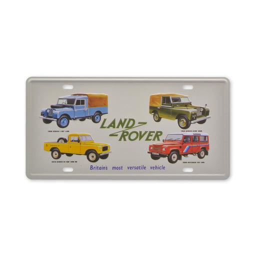 Land Rover Metal Sign Tin Classic Models Small