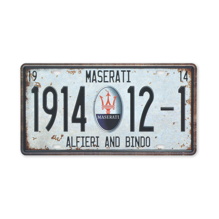 Small Tin Sheet Graphic Print - Maserati Car Logo